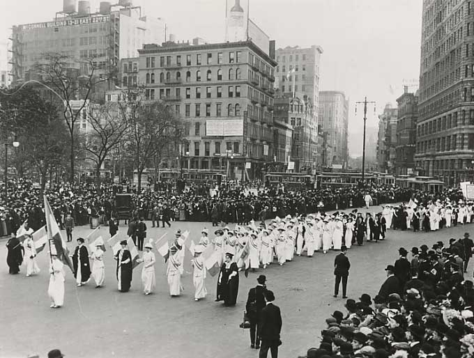 Photo of Suffrage Parade, NY City, 1912